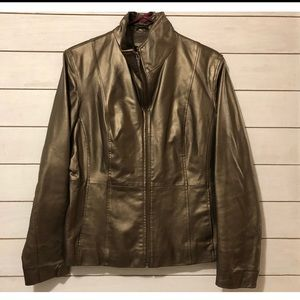 Gold Bernardo Leather Jacket - size M